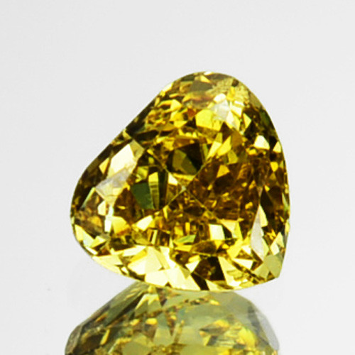 ~UNTREATED~ 0.13 Cts Natural Yellow Diamond Heart mix Africa