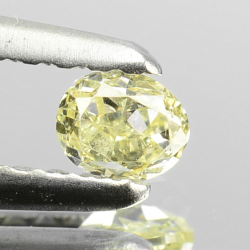 ~UNTREATED~ 0.16 Cts Natural Yellow Diamond Oval Cut Africa