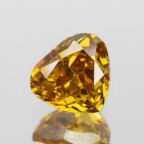 ~UNTREATED~ 0.24 Cts Natural Cognac Orange Diamond Heart Mix Africa