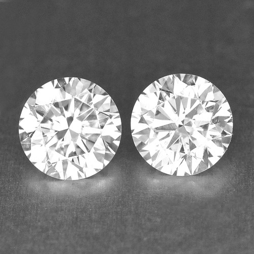 0.28 Cts Natural White Diamond Pair Africa