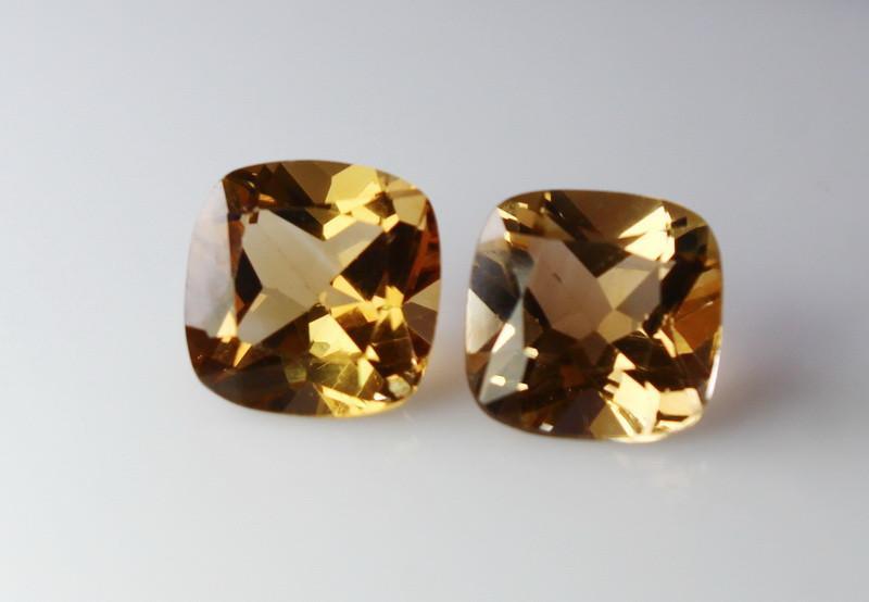 9.90 CT Natural - Unheated Brown Topaz Gemstone Pair