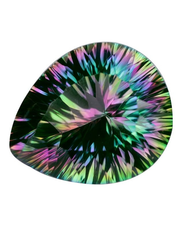 15.50 Cts Amazing Rare Fancy Fancy Color Natural Mystic Quartz