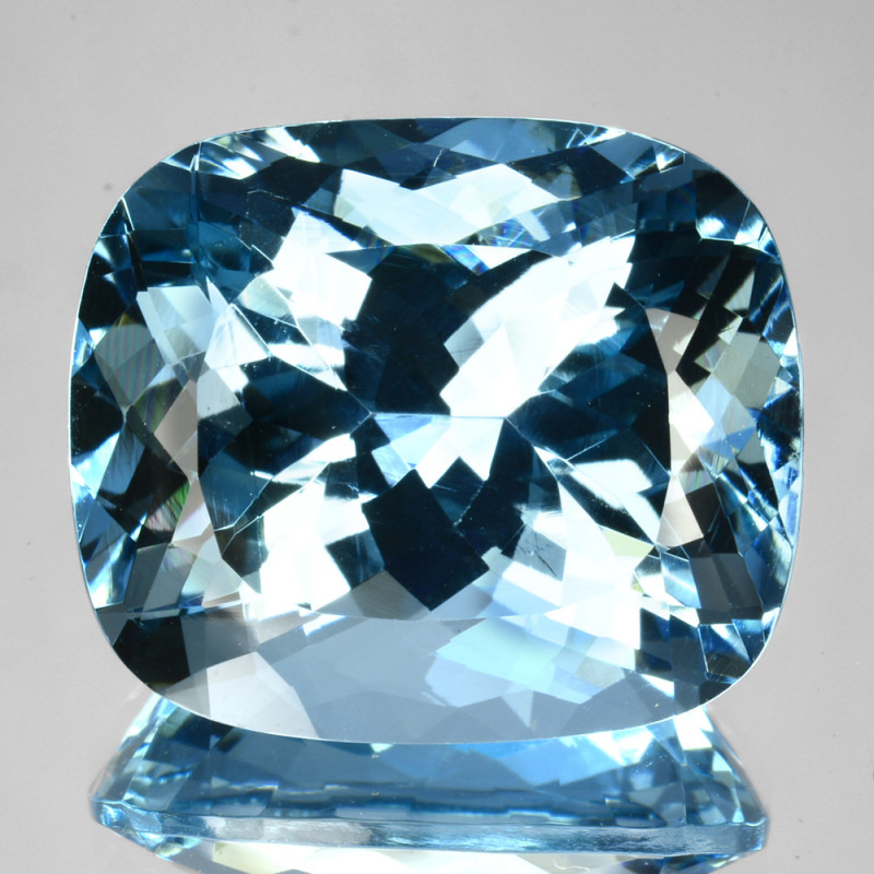 ~Pretty~ 20.40 Cts Natural Blue Aquamarine Cushion - Brazil
