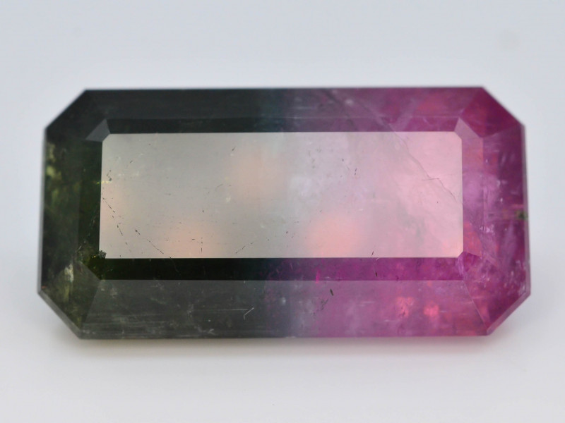AAA Grade 18.70  ct Natural Bi Color Tourmaline