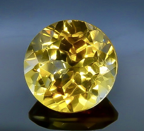 3.42 Crt  Citrine Faceted Gemstone (Rk-73)
