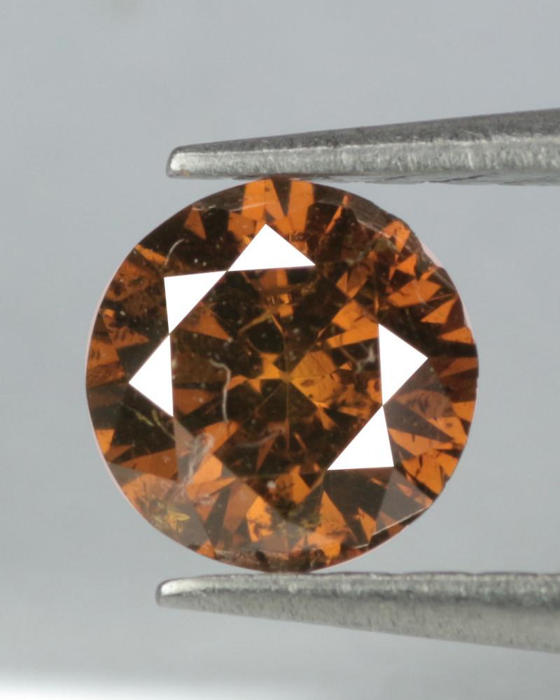 0.18 Cts Untreated Fancy Cognac Color Natural Loose Diamond