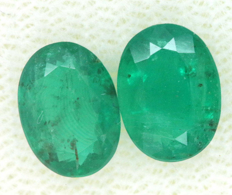 1.78CTS CERTIFIED BRAZILIAN EMERALD FACETED PAIRS 2PC TBM-1121