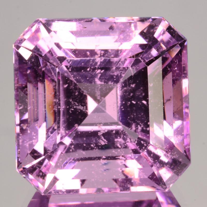 ~UNHEATED~ 10.10 Cts Natural Pink Morganite Square Cut Brazil