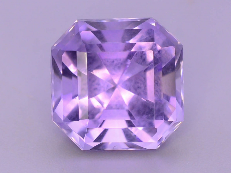 Attractive  6.95 ct asscher cut Amethyst