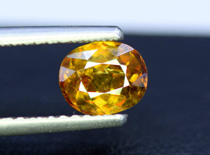 Sphene Titanite, 1.45 CT Natural Full Fire Sphene Titanite Gemstone