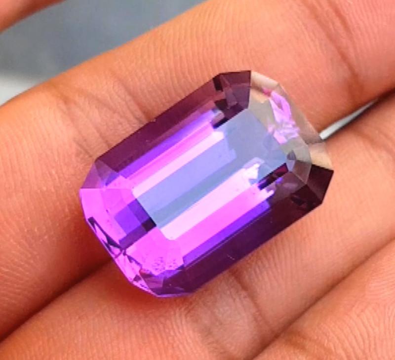 28.70 Carats Grade Natural Amethyst Fancy Cut Gemstone