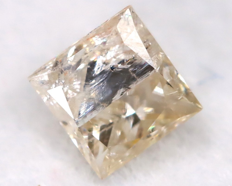 0.24Ct Natural Princess Cut Untreated Fancy Diamond BM0564