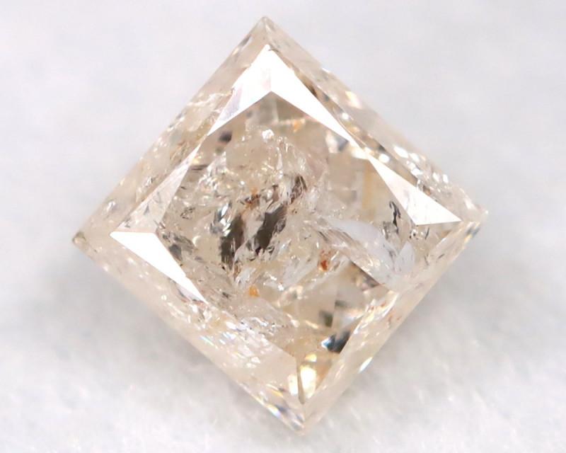 0.25Ct Natural Princess Cut Untreated Fancy Diamond BM0598