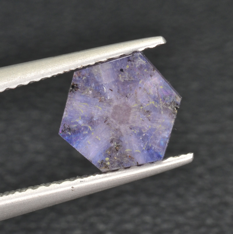Natural Trapiche Sapphire 1.63 Cts from  Afghanistan