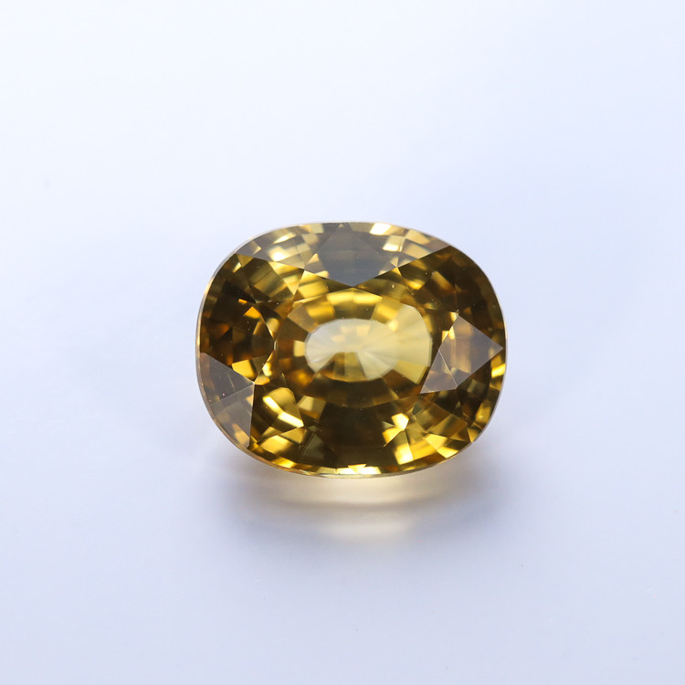 3.96ct. Lab Certified Yellow Cambodian Zircon