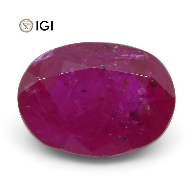 2.4 ct Oval Ruby IGI Certified