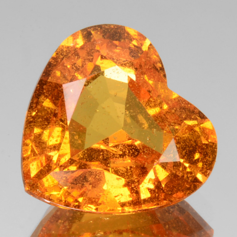 3.09 Cts Unheated Natural Mandarin Orange Spessartite Garnet Heart Namibian