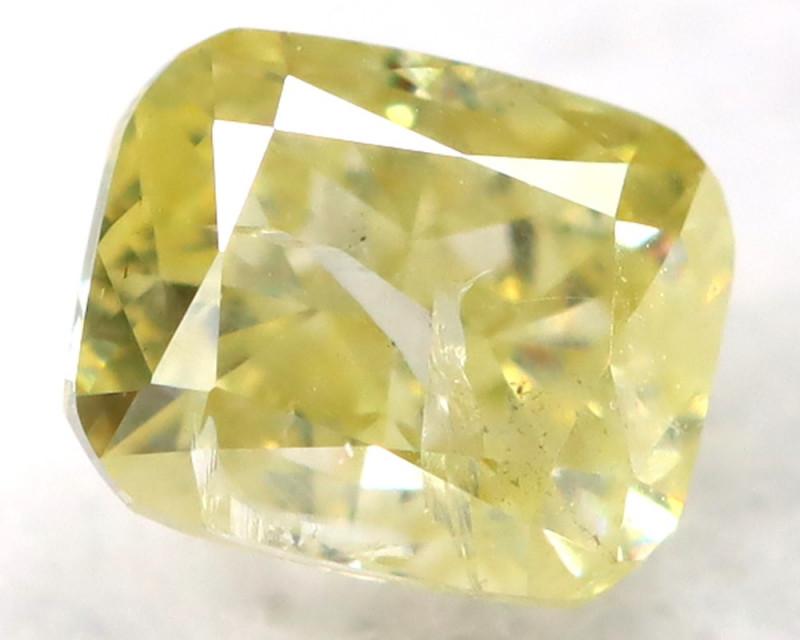 Yellow Diamond 0.24Ct Natural Untreated Fancy Diamond B1108
