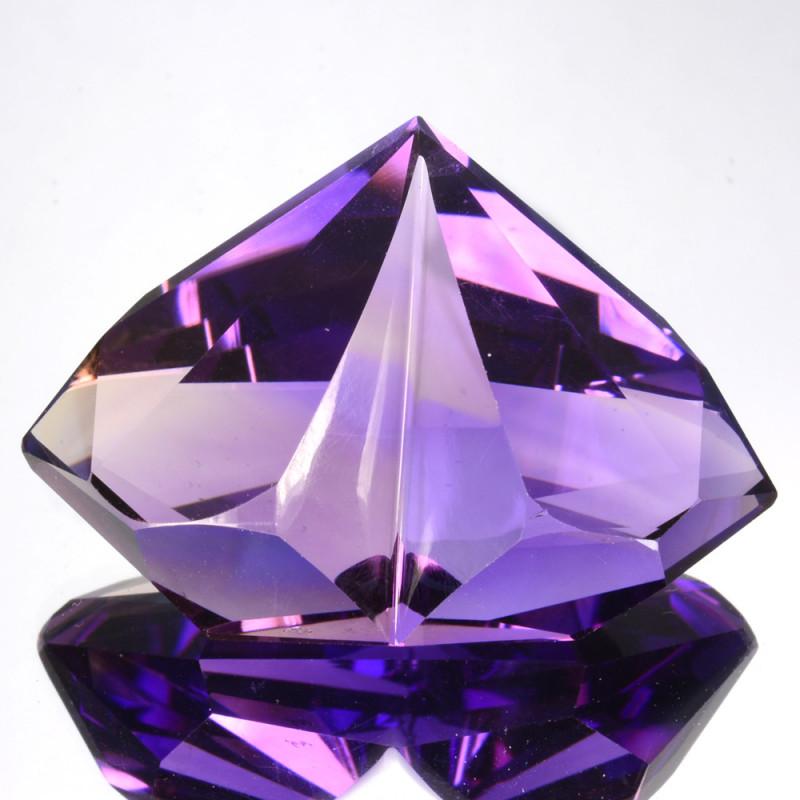 50.87 Cts Gorgeous Natural Purple Amethyst-Fancy Custom Cut