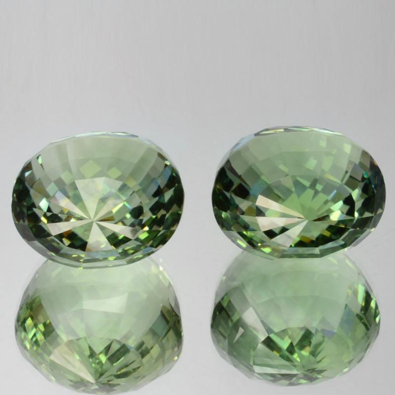 69.87 Cts Natural Green Prasiolite / Amethyst Drop Cut Brazil