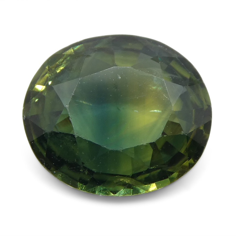 2.31ct Oval Teal Green Sapphire