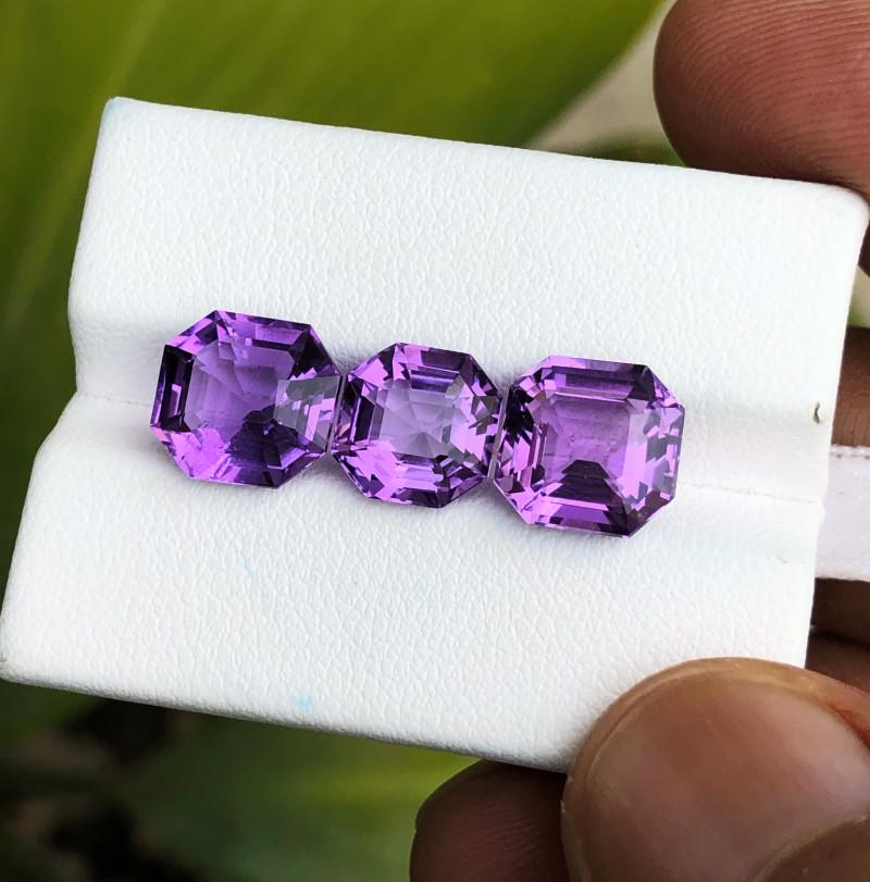 9.90 Ct Natural Purplish Transparent Amethyst Gemstones Parcels
