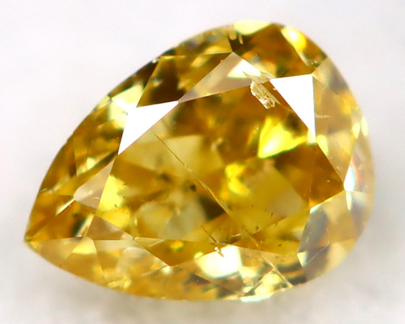 Intense Yellow Diamond 3.3mm Untreated Genuine Fancy Diamond C1202