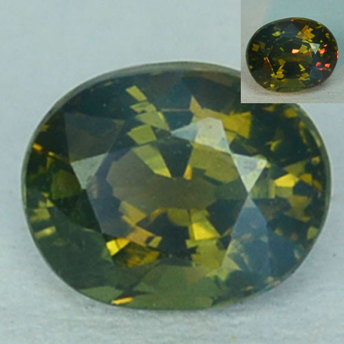 0.41 Cts Natural Color Change Alexandrite  Oval Gem India