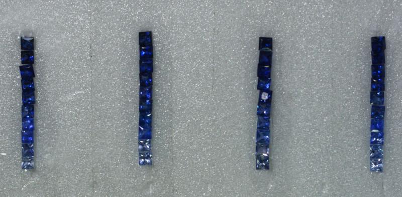 1.30Cts Natural Fancy Sapphire Bracelet Square 3mm Princes