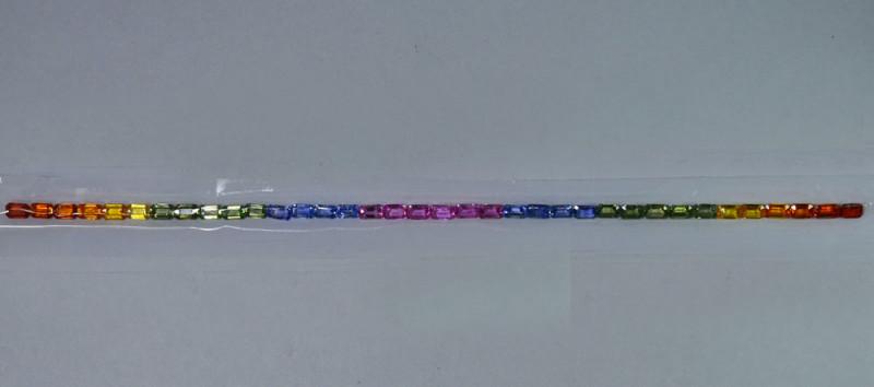 13.77Cts Natural Fancy Sapphire Bracelet Octagon 5 X 3mm