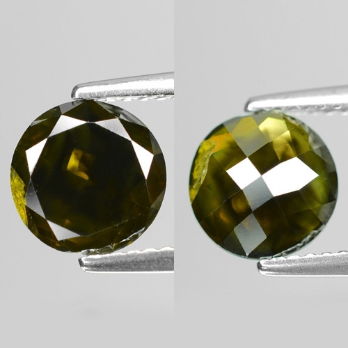 1.93Cts Round 7x3 Rose Cut Green Color Natural Loose Diamond