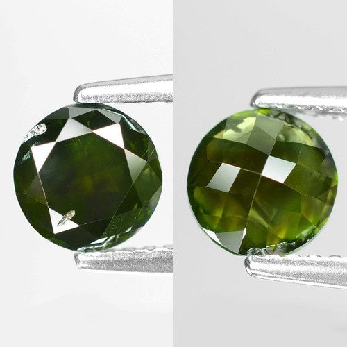 1.07Cts Round 6x3 Rose Cut Green Color Natural Loose Diamond