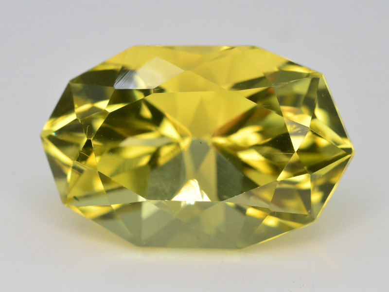 Brilliant Yellow Color &  Cut 12.05 Ct Natural Citrine ~ Africa