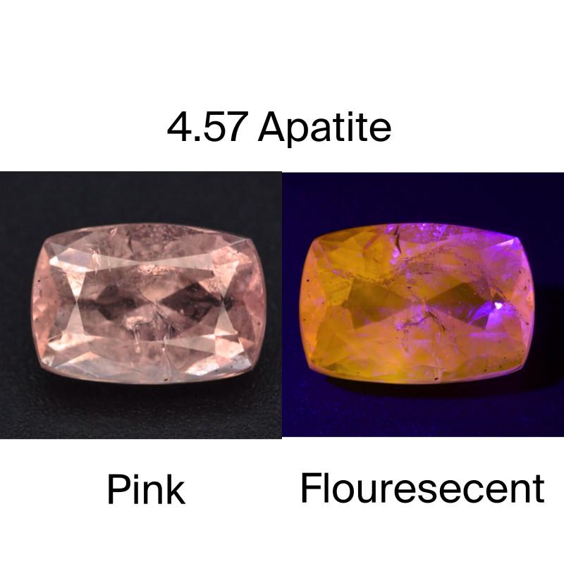 GSGC CERT~ AAA ULTRA RARE 4.57 CT Natural Pink Apatite ~ A G