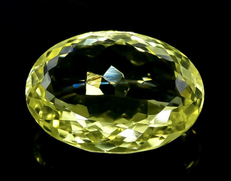 12.77 Crt Lemon Quartz Faceted Gemstone (Rk-79)