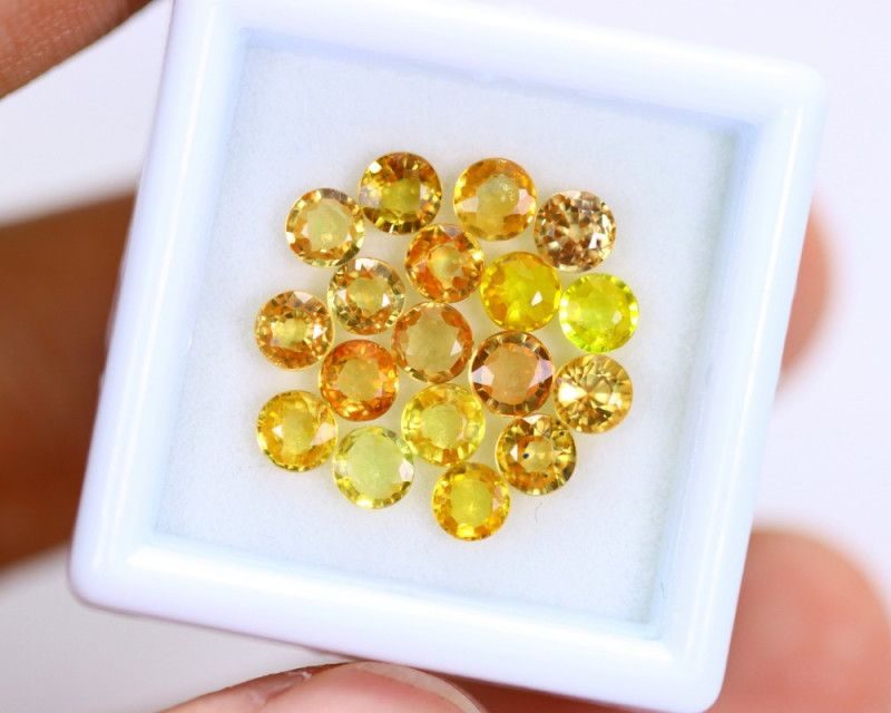 4.81cts Natural Yellow Color Sapphire Lots / MA 628