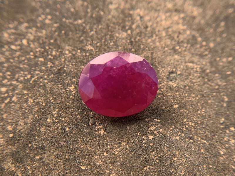 Ruby 5.91 ct Loose Gemstone - Natural Gemstone - Oval cut