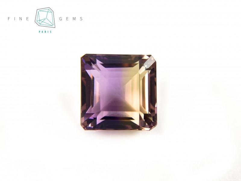 6.91 carats Natural Ametrine Gemstone Octa cut