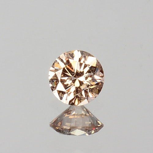 ~UNTREATED~ 0.07 Cts Natural Peach Diamond 2.5mm Round Cut Africa