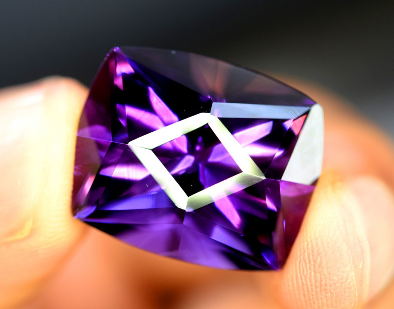 15.55 Carats Grade Natural Amethyst Fancy Cut Gemstone
