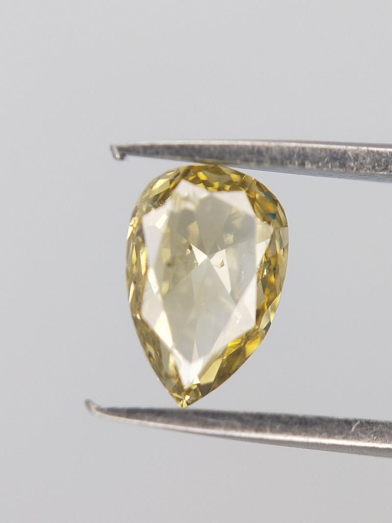 Very Light Colored Diamond , Pear Cut  0.396 cts