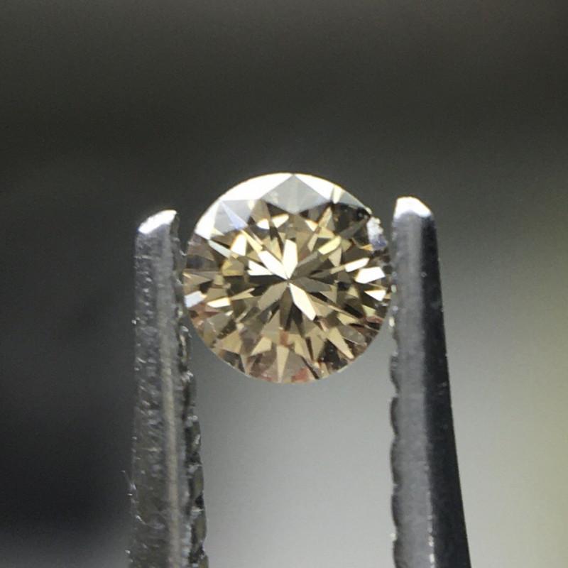 0.04 ct Fancy Brown VVS2 Round Brilliant Diamond