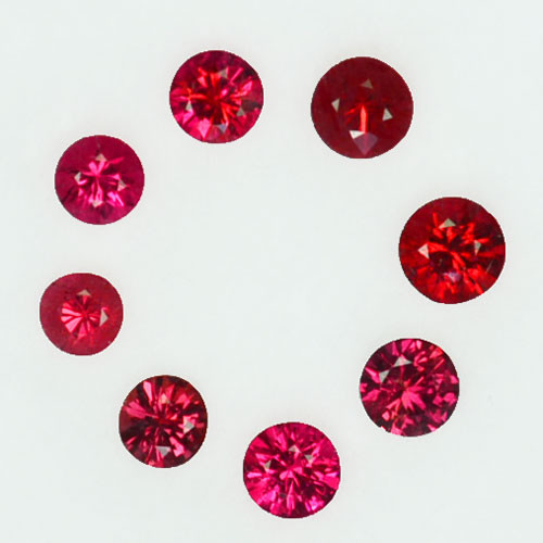 Vibrant Red! 0.72Cts Natural  Spinel Round 3.00mm Burma Parcel