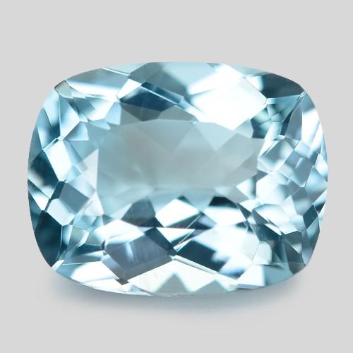 1.81 Cts Un Heated  Santa Maria Blue  Natural Aquamarine Loose Gemstone