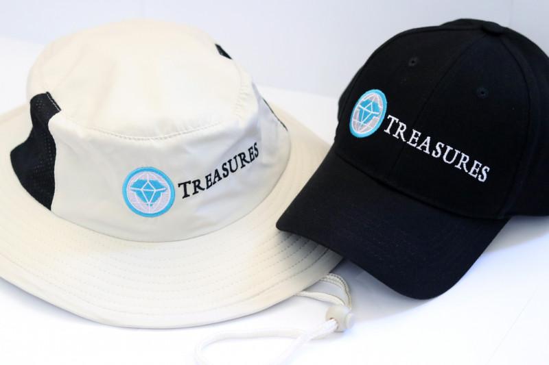 Treasures Baseball Cap and Bushmans hat    two items