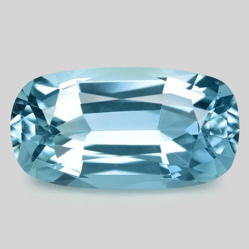 2.85 Cts Un Heated  Santa Maria Blue  Natural Aquamarine Loose Gemstone
