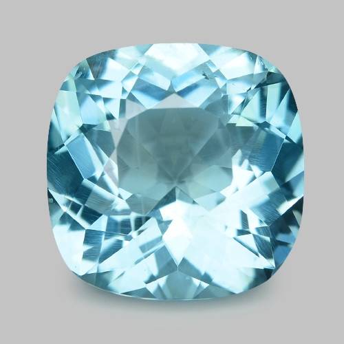 2.38 Cts Un Heated  Santa Maria Blue  Natural Aquamarine Loose Gemstone