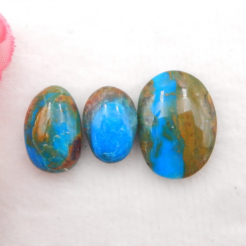 17.5cts Blue Opal Cabochons, October Birthstone, Blue Opal  Cabochons H177