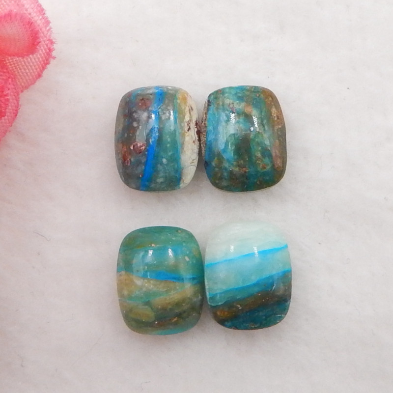 10.5cts Natural  Blue Opal Cabochons, October Birthstone, Blue Opal Cabocho