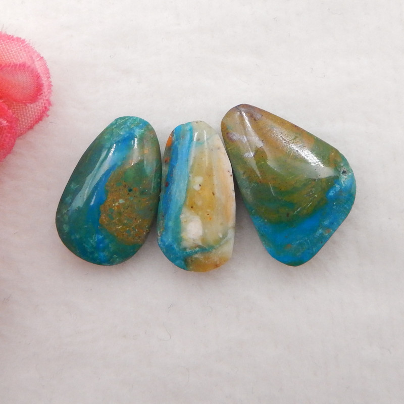 17.5cts  Natural  Blue Opal Cabochons, October Birthstone, Blue Opal Caboch